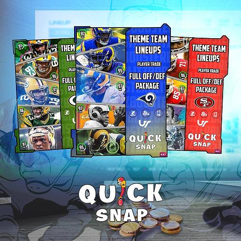 Custom Offense/Defense #QuickSnap Theme Team Special -  Madden 21 Ultimate Team