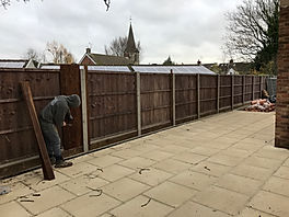 Garden Fencing in Farnborough, Hampshire.