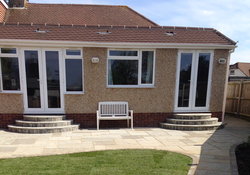 New extension, steps and patio