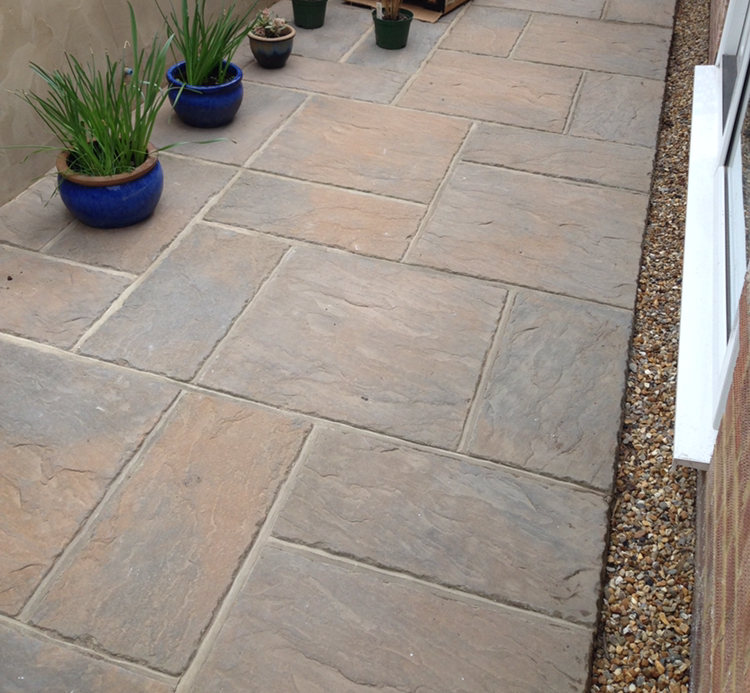 Patio, outside new extension