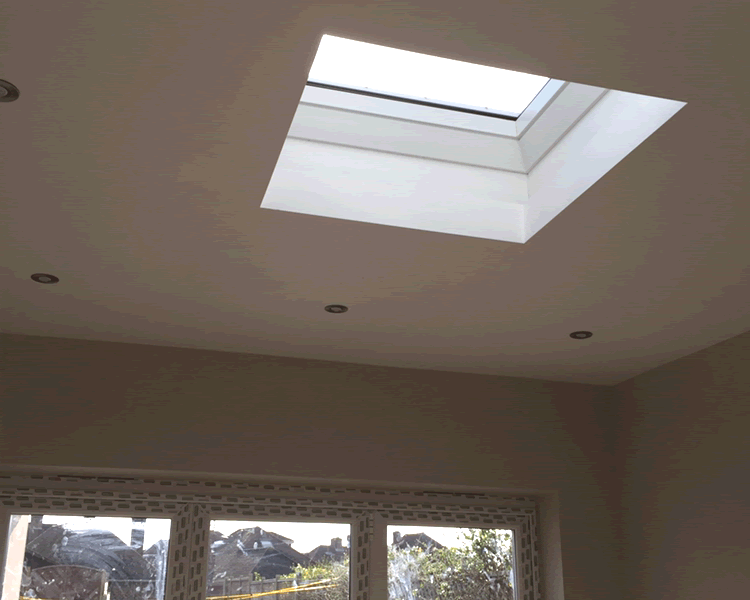 New rooflight with LED lights