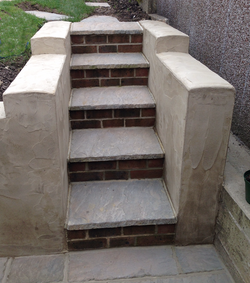 Steps with spanish plaster