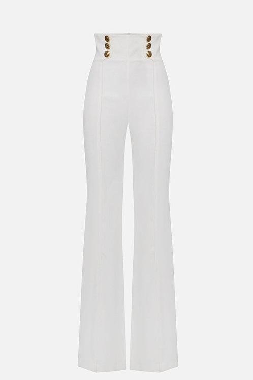 Pantalone vita alta in crêpe Elisabetta Franchi.