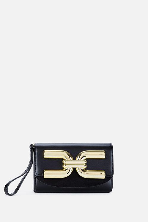 Mini borsa con logo dorato Elisabetta Franchi.