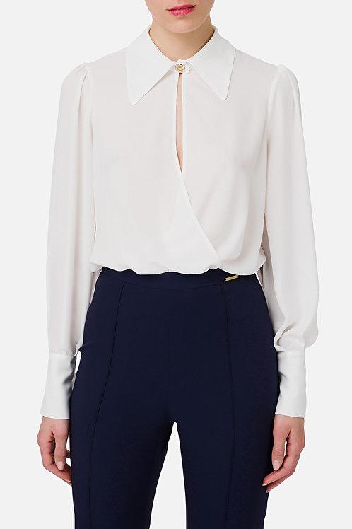 Camicia a body con arricciatura Elisabetta Franchi.