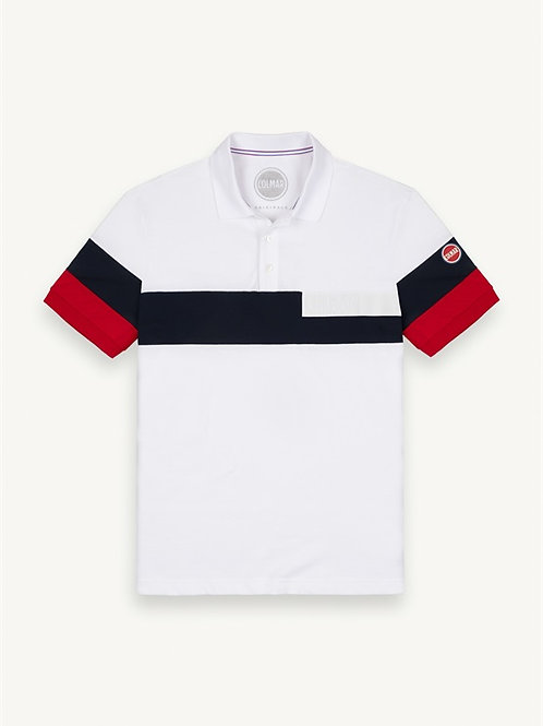 Polo colorblock con scritta Transfer Colmar.