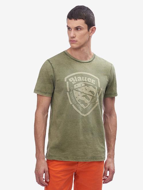 T-shirt tinto in capo Blauer.