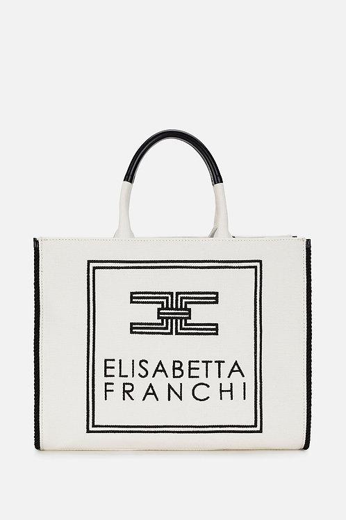Borsa in canvas Elisabetta Franchi.