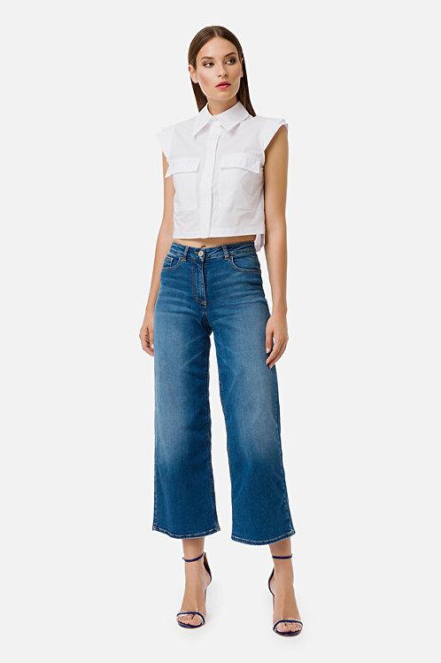 Jeans regular con gamba larga Elisabetta Franchi.