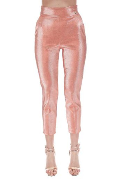 Pantalone in lurex a vita alta Elisabetta Franchi.