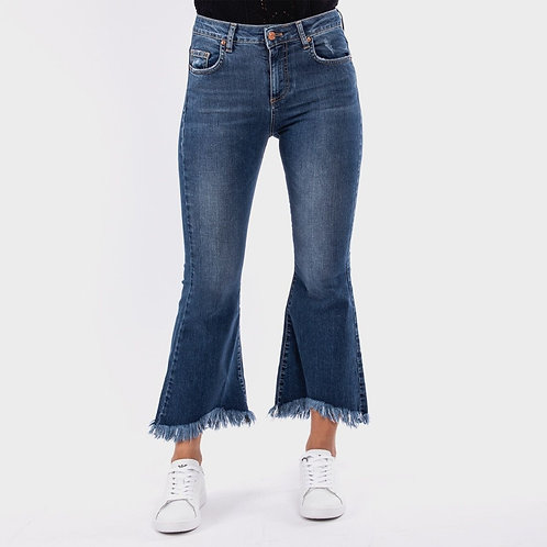 Jeans zampetta con frange Vicolo.