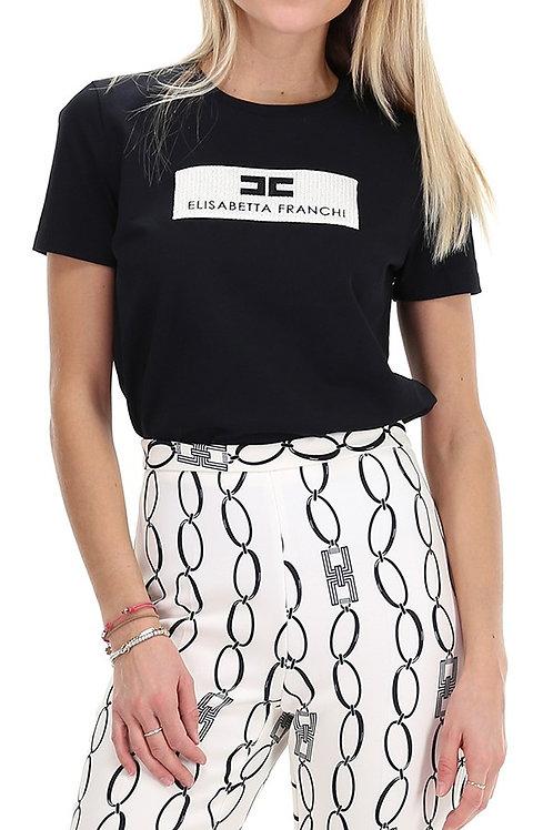T-shirt con logo Elisabetta Franchi.