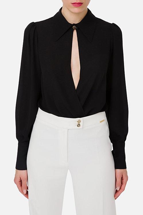 Camicia-body con arricciatura Elisabetta Franchi.