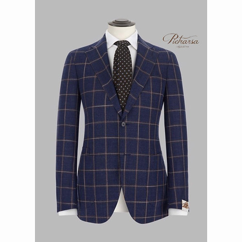 Blazer check bicolore in pura lana vergine