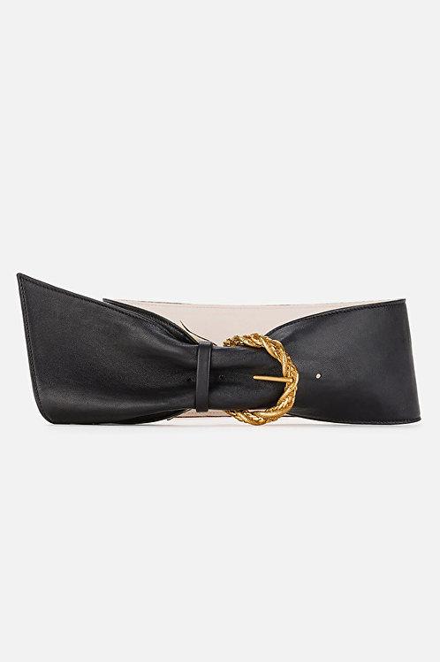 Cintura con fiocco e fibbia dorata Elisabetta Franchi.