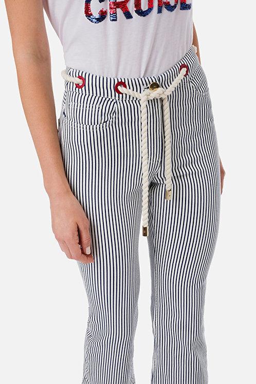 Pantalone in denim con cintura Elisabetta Franchi.