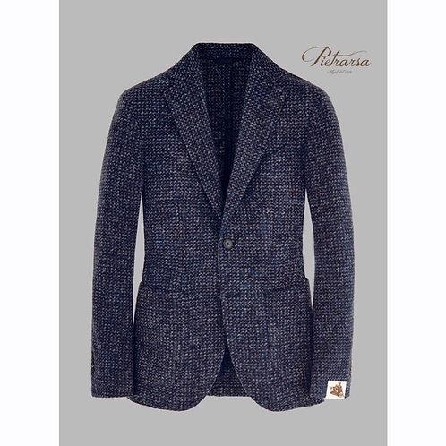 Giacca maxi piqué super leggero in jersey di lana, bouclé con effetto fuso.