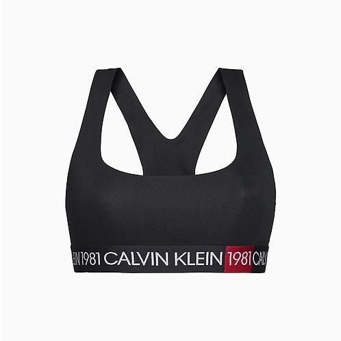 1981 Unlined Bold Bralette Calvin Klein.