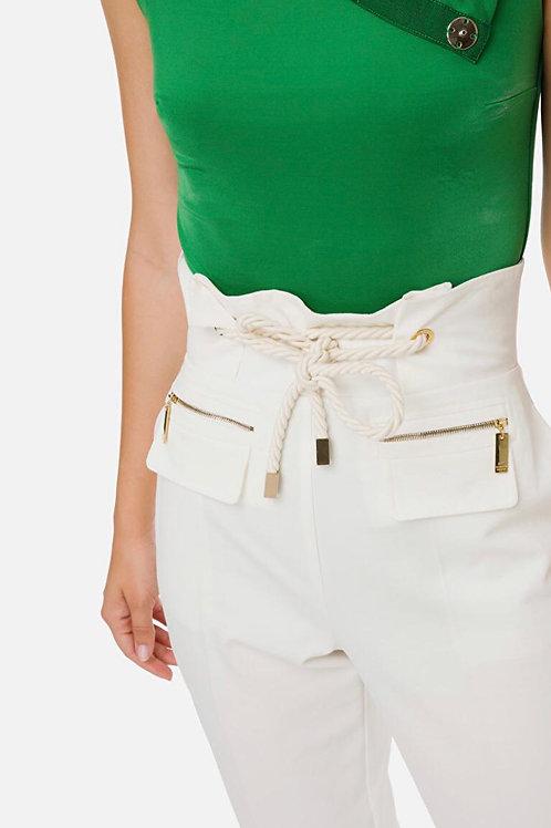 Pantalone a sigaretta con cintura Elisabetta Franchi