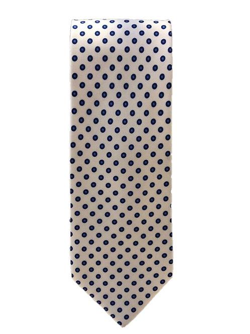 Cravatta in Seta Total White