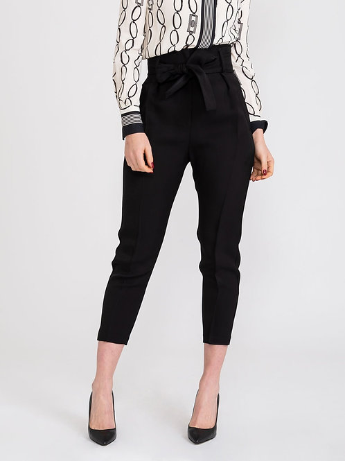 Pantalone in gabardina con fiocco Elisabetta Franchi.