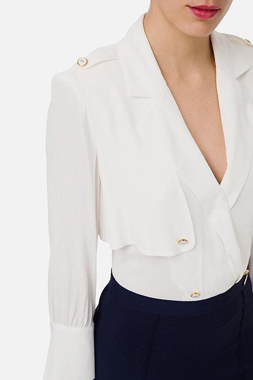 Camicia a body con bottoni Elisabetta Franchi.