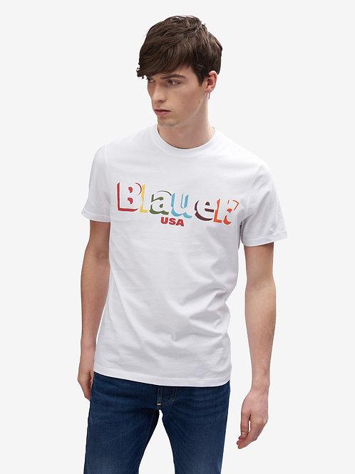 T-shirt colorata Blauer.