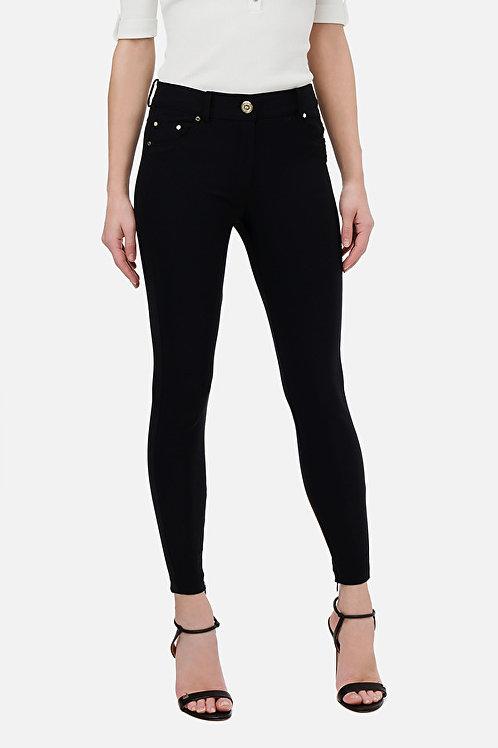 Pantaloni skinny con bottone oro light Elisabetta Franchi.