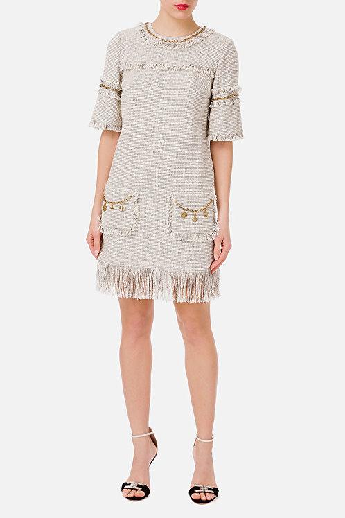 Mini abito a sacchetto con charms Elisabetta Franchi
