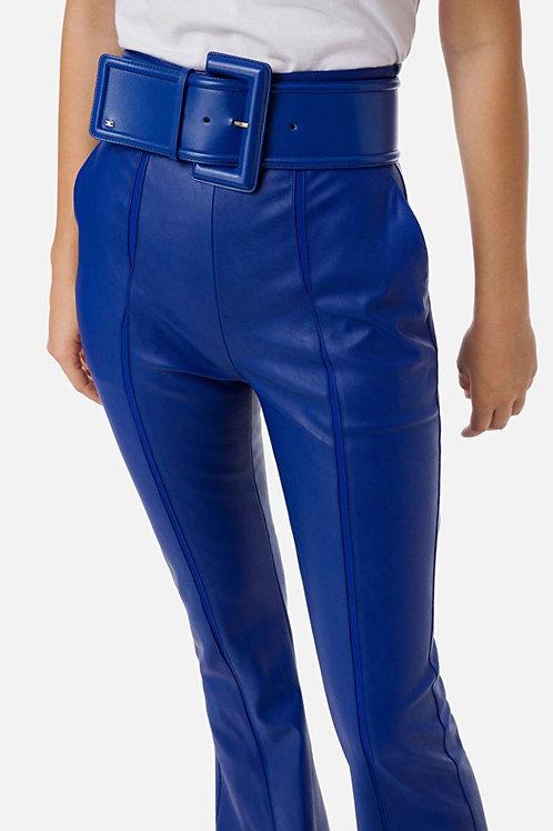 Pantalone vita alta con cintura Elisabetta Franchi