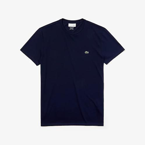 T-shirt a girocollo in jersey di cotone Pima tinta unita.