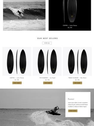 Dark Arts UX/UI Visual E-Commerce Web Design