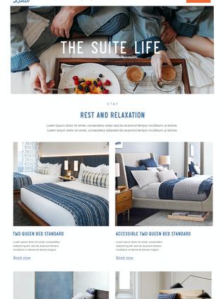 Hotel Lulu UX/UI Visual E-Commerce Web Design