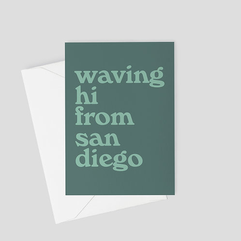 Waving Hello Typography