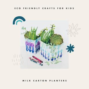 Quick Crafts: Milk Carton Planters
