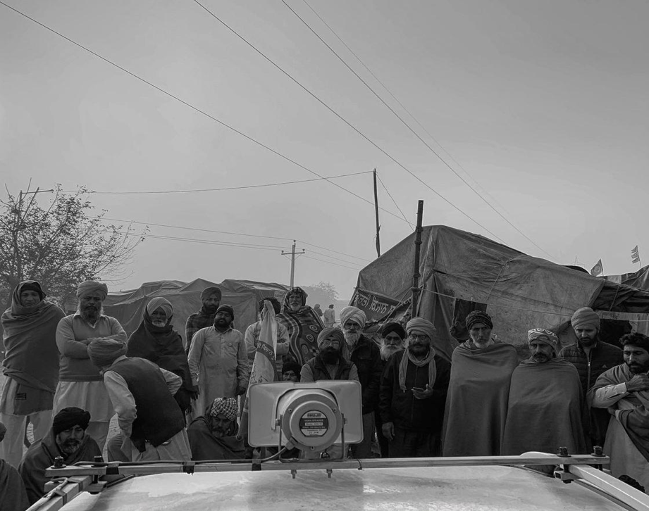 Two Worlds: Visuals from the Farmers' Protest
