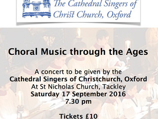 Christ Church Singers Coming to Tackley