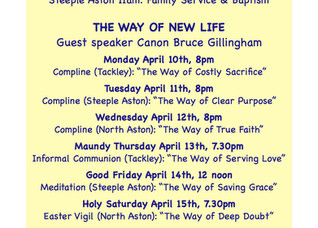 Holy Week and Easter 2017