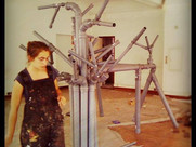 MARIA RIBEIRO BUILDING THE BOOTH FOR BREAD AND BUTTER BERLIN