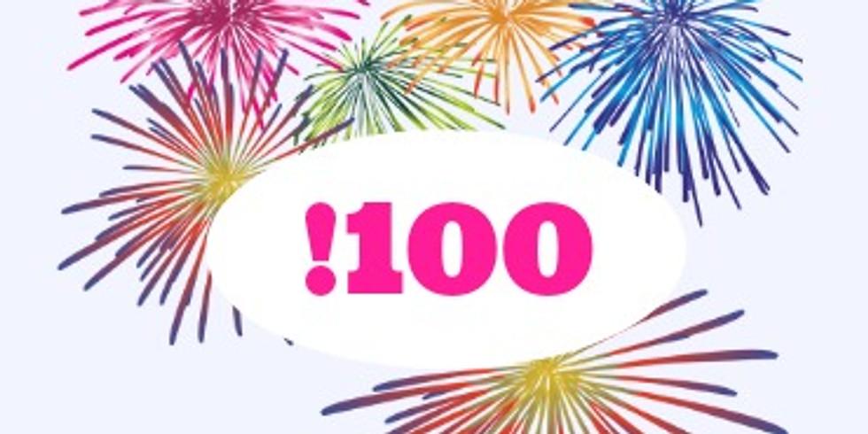 25.5 16:00  השיעור ה-100- מפגש חגיגי