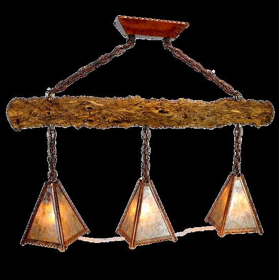 3 pendant tamarack chandelier