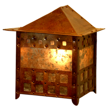 small square wall sconce