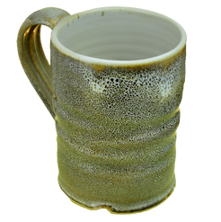 "#1 ""oilspot"" stoneware mug"