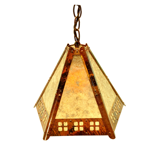 "5 Panel Hanging Pendant w/ ""Window Pane"" Detail"