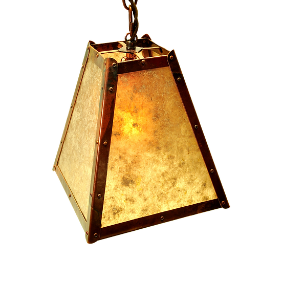 wide square hanging pendant