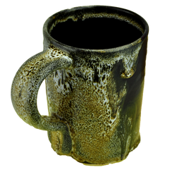 "#8 ""oilspot"" stoneware mug"