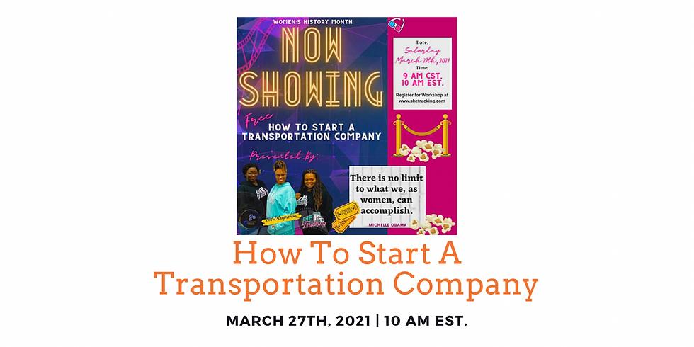 How To Start A Transportation Company