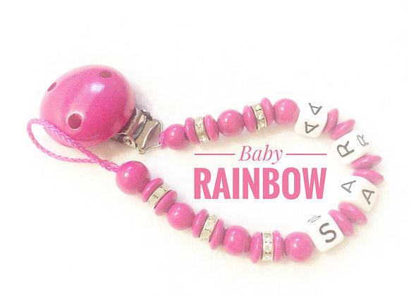 Attache tétine bébé personnalisée strass