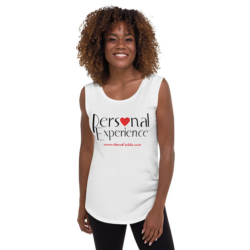 White Personal Experience Ladies' Cap Sleeve T-Shirt