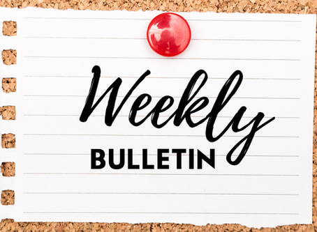 Weekly Bulletin for Sunday 27th September, 2020